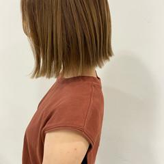 ミニボブ ボブ ベージュ ボブヘアー ヘアスタイルや髪型の写真・画像