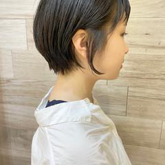 ショート ナチュラル ショートヘア 小顔ショート ヘアスタイルや髪型の写真・画像