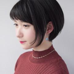 似合わせ ショートボブ 色気 コンサバ ヘアスタイルや髪型の写真・画像