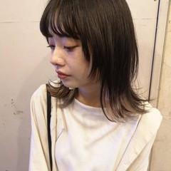 マッシュウルフ ミディアム ウルフ ナチュラルウルフ ヘアスタイルや髪型の写真・画像
