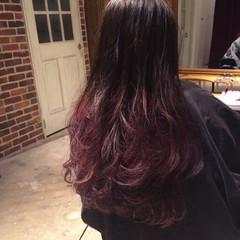ゆるふわ 大人かわいい ピンク ロング ヘアスタイルや髪型の写真・画像