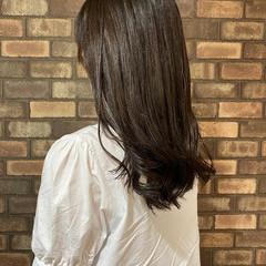 ナチュラルブラウンカラー ブラウン セミロング アディクシーカラー ヘアスタイルや髪型の写真・画像