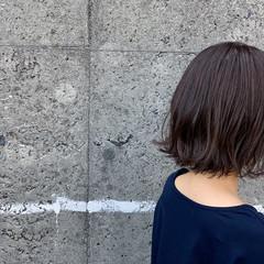 ワンカールスタイリング ミニボブ ボブ 切りっぱなし ヘアスタイルや髪型の写真・画像