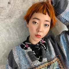 春 前髪 透明感 ショート ヘアスタイルや髪型の写真・画像