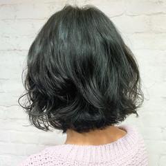 外ハネボブ  パーマ ボブ ヘアスタイルや髪型の写真・画像