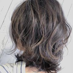 フェミニン 外国人風カラー ミディアム 大人かわいい ヘアスタイルや髪型の写真・画像