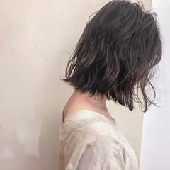 ナチュラル フェミニン 前髪あり ボブ ヘアスタイルや髪型の写真・画像