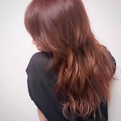 ピンク 外国人風 モテ髪 レッド ヘアスタイルや髪型の写真・画像