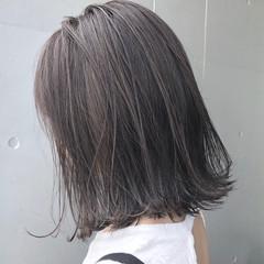 オフィス ナチュラル ハイライト ロブ ヘアスタイルや髪型の写真・画像