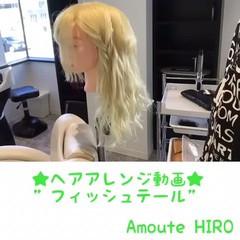 ヘアアレンジ ショート セミロング 大人女子 ヘアスタイルや髪型の写真・画像