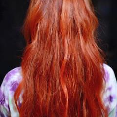 モード ロング ハイライト ヘアスタイルや髪型の写真・画像