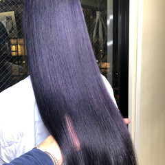 インナーカラーパープル パープルカラー グラデーションカラー ストリート ヘアスタイルや髪型の写真・画像