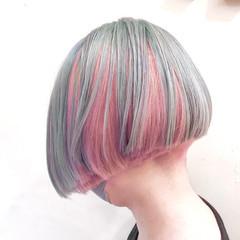 ハイトーンカラー ミニボブ ボブ ストリート ヘアスタイルや髪型の写真・画像
