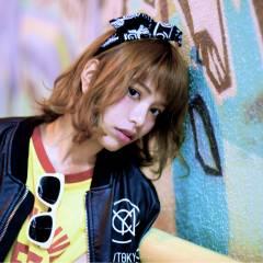 パンク ストリート ボブ ストレート ヘアスタイルや髪型の写真・画像