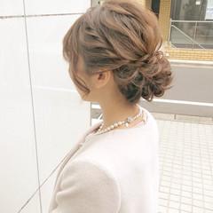 簡単ヘアアレンジ ロング デート オフィス ヘアスタイルや髪型の写真・画像