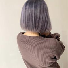 ハイトーンカラー フェミニン 外国人風カラー ショート ヘアスタイルや髪型の写真・画像
