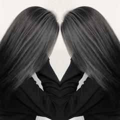 外国人風カラー バレイヤージュ ストリート 3Dハイライト ヘアスタイルや髪型の写真・画像