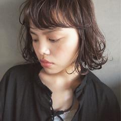 パーマ 暗髪 黒髪 大人女子 ヘアスタイルや髪型の写真・画像
