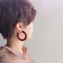 ショートボブ フェミニン ベリーショート マッシュショート ヘアスタイルや髪型の写真・画像