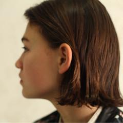 ハイライト モード 暗髪 ボブ ヘアスタイルや髪型の写真・画像