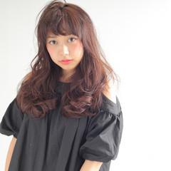 ゆるふわ 外国人風 セミロング グラデーションカラー ヘアスタイルや髪型の写真・画像