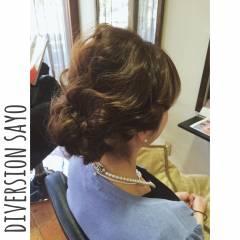 ヘアアレンジ ゆるふわ ギブソンタック 波ウェーブ ヘアスタイルや髪型の写真・画像