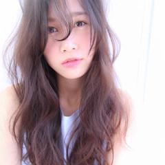ロング イルミナカラー かわいい 大人かわいい ヘアスタイルや髪型の写真・画像