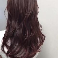 ピンク ロング 大人かわいい ナチュラル ヘアスタイルや髪型の写真・画像