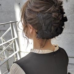 ガーリー 簡単ヘアアレンジ リボンアレンジ 結婚式 ヘアスタイルや髪型の写真・画像