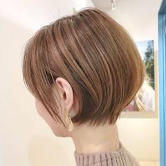 30代 ナチュラル 40代 ショートボブ ヘアスタイルや髪型の写真・画像