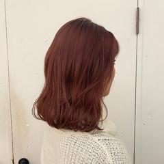 ピンク ピンクブラウン ベリーピンク ガーリー ヘアスタイルや髪型の写真・画像