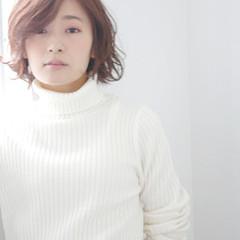 冬 抜け感 ボブ パーマ ヘアスタイルや髪型の写真・画像