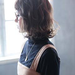 ヘアアレンジ 外ハネ ミディアム 外ハネボブ ヘアスタイルや髪型の写真・画像