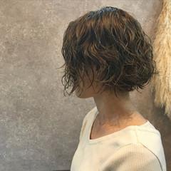 ショート 外国人風 オフィス ショートボブ ヘアスタイルや髪型の写真・画像