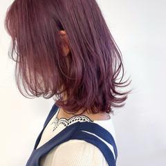 ブリーチ必須 ミディアム ブリーチカラー ナチュラル ヘアスタイルや髪型の写真・画像
