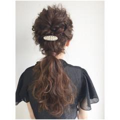 ハーフアップ ヘアアレンジ 夏 ロング ヘアスタイルや髪型の写真・画像