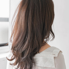 フェミニン ロングヘアスタイル 毛先パーマ ロング ヘアスタイルや髪型の写真・画像