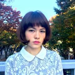 モード 秋 ボブ ナチュラル ヘアスタイルや髪型の写真・画像