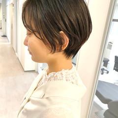 オフィス ベリーショート ショート デート ヘアスタイルや髪型の写真・画像
