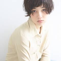 大人かわいい ショート ナチュラル フェミニン ヘアスタイルや髪型の写真・画像
