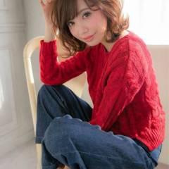 大人かわいい 愛され モテ髪 フェミニン ヘアスタイルや髪型の写真・画像