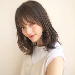 アンニュイほつれヘア ミディアム モテ髪 ナチュラル ヘアスタイルや髪型の写真・画像