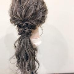 結婚式 フェミニン ロング 女子会 ヘアスタイルや髪型の写真・画像
