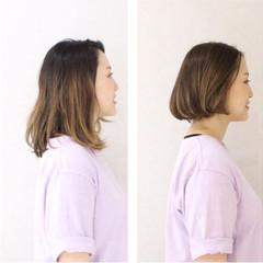 グラデーションカラー ゆるふわ 大人かわいい ナチュラル ヘアスタイルや髪型の写真・画像
