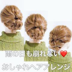 ヘアアレンジ フェミニン セルフヘアアレンジ セルフアレンジ ヘアスタイルや髪型の写真・画像