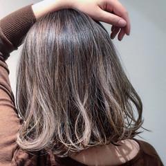 外国人風 ハイライト ボブ ナチュラル ヘアスタイルや髪型の写真・画像