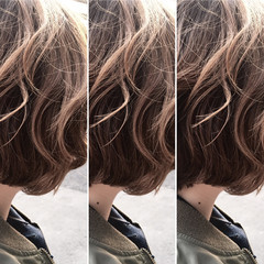 ハイライト アッシュ ナチュラル ニュアンス ヘアスタイルや髪型の写真・画像