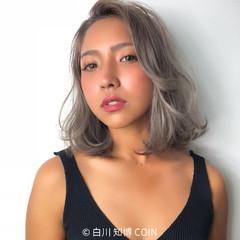 外国人風カラー アンニュイ 透明感 ボブ ヘアスタイルや髪型の写真・画像