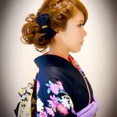 簡単ヘアアレンジ 編み込み パーティ 大人かわいい ヘアスタイルや髪型の写真・画像