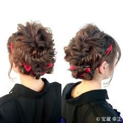 パーティ ヘアアレンジ ミディアム 結婚式 ヘアスタイルや髪型の写真・画像